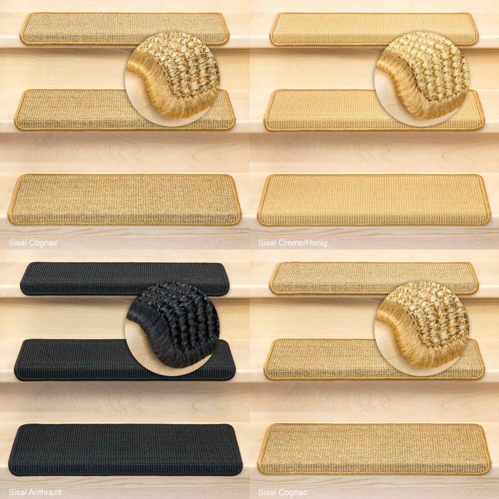 Fußmatte Sisal stufenmatten sisal rechteckig einzeln und sparsets jpg