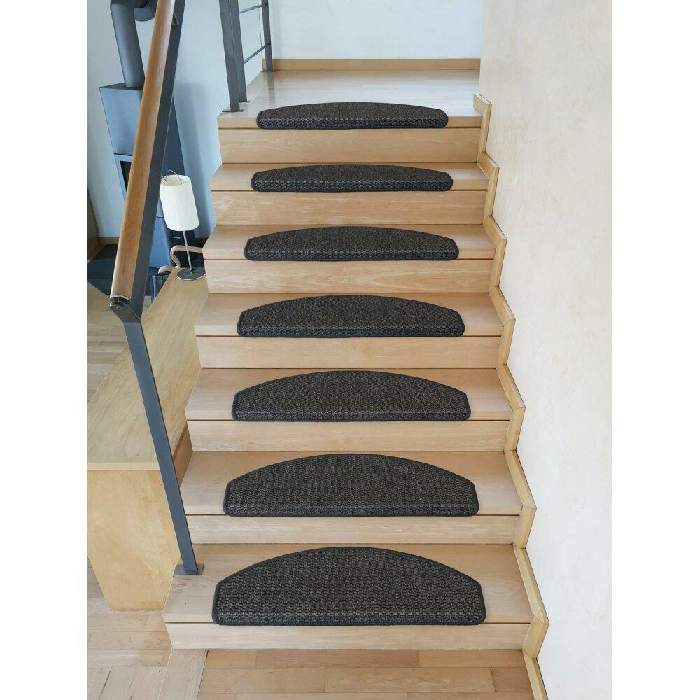 stufenmatten g teborg halbrund anthrazit 14 st ck 66 95. Black Bedroom Furniture Sets. Home Design Ideas