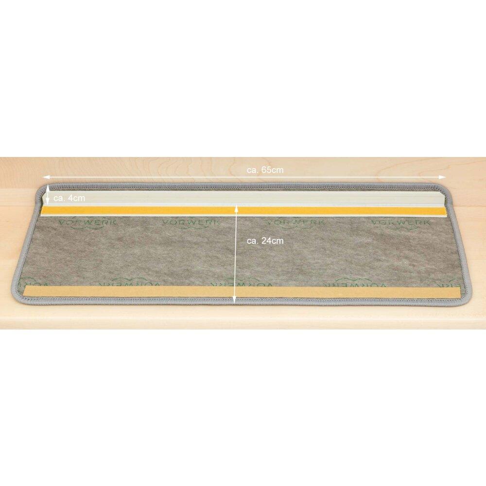 15 Stk Stufenmatten Vorwerk Nerz 3M57 65x23,5x3,5 cm hochwertiker Velour günstig