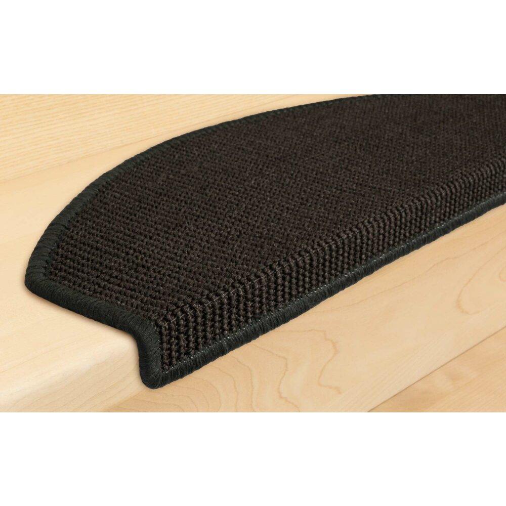 stufenmatten sisal new halbrund anthrazit 10 st ck 65 90. Black Bedroom Furniture Sets. Home Design Ideas