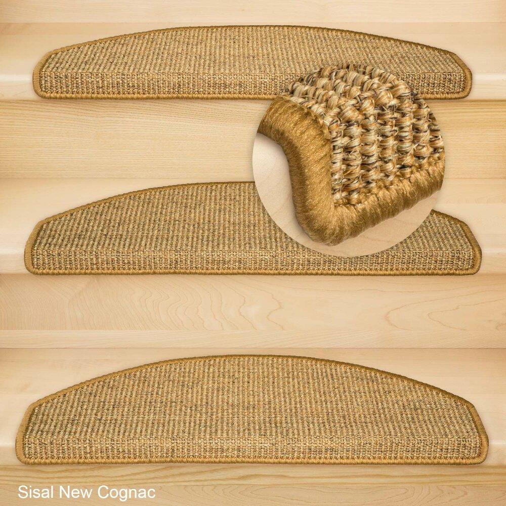 stufenmatten sisal new halbrund cognac 16 st ck 95 95. Black Bedroom Furniture Sets. Home Design Ideas