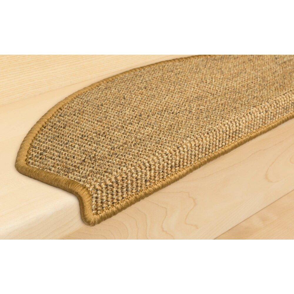 stufenmatten sisal new halbrund cognac 28 st ck 167 95. Black Bedroom Furniture Sets. Home Design Ideas