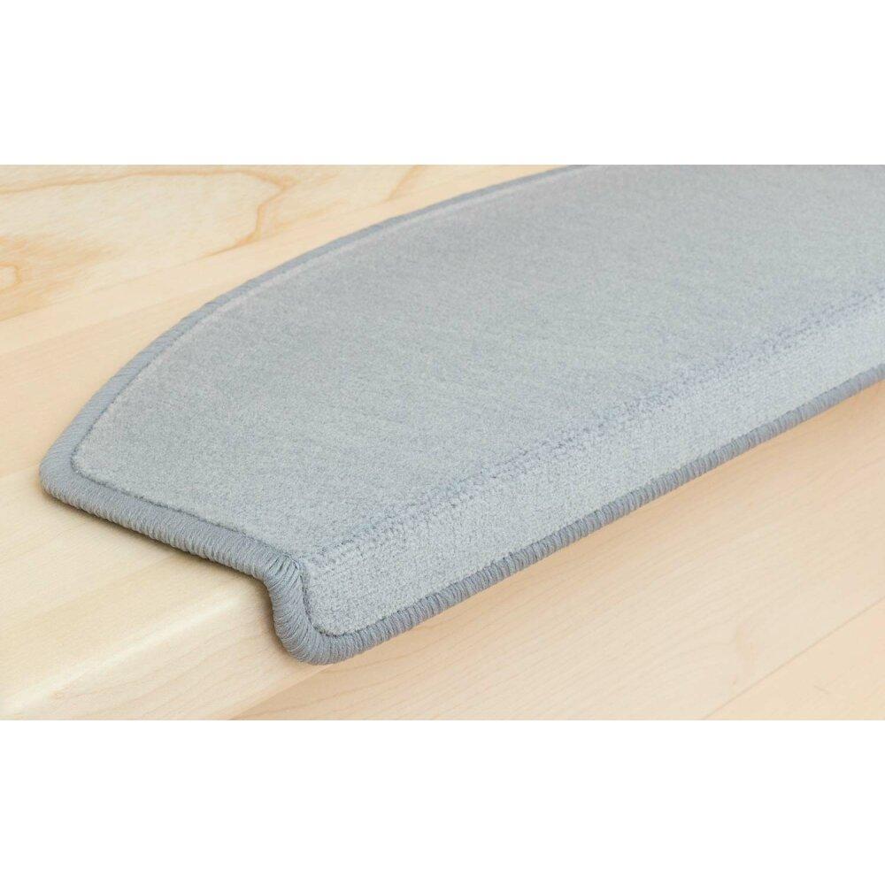 stufenmatten vorwerk uni hellgrau 12 st ck halbrund 87 95. Black Bedroom Furniture Sets. Home Design Ideas