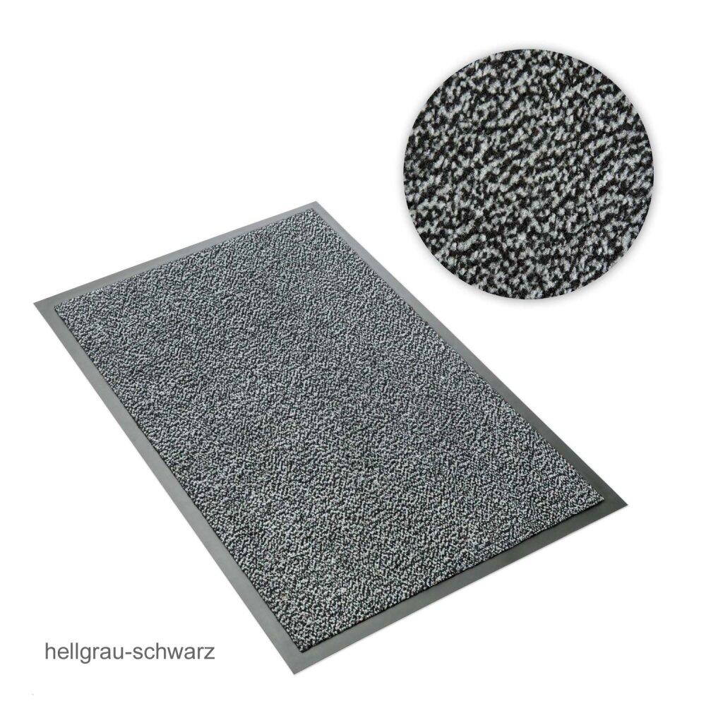 schmutzfangmatte sauberlaufmatte hellgrau schwarz meliert 90 x 120 22 95. Black Bedroom Furniture Sets. Home Design Ideas