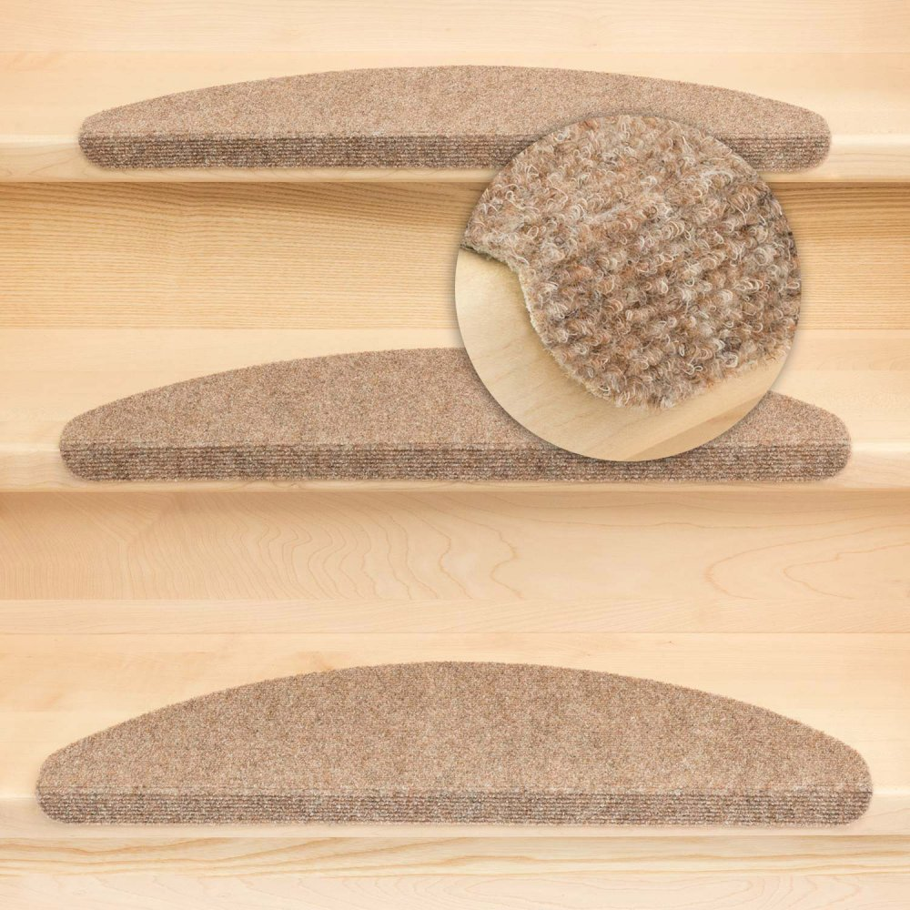 stufenmatten ramon mw mit winkel beige 15 st ck halbrund 29 95. Black Bedroom Furniture Sets. Home Design Ideas